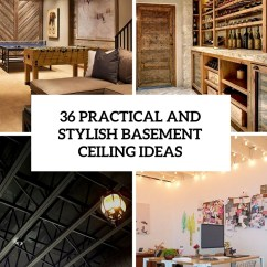 Cheap Ceiling Ideas Living Room Asian Design 36 Practical And Stylish Basement Decor Shelterness Cover