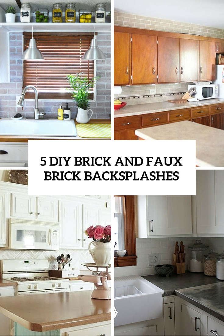 faux brick kitchen kitchens ideas 5 chic diy and backsplashes shelterness cover