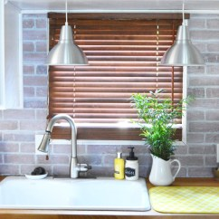 Cheap Backsplash For Kitchen The Honest Coupon 5 Chic Diy Brick And Faux Backsplashes ...