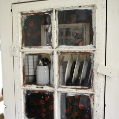 Kitchen Furniture Ashley Island Vintage-inspired Diy Old Window Floor Cabinet - Shelterness