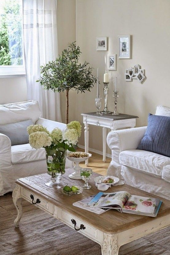 shabby chic living rooms pictures best shade of gray paint for room 26 charming decor ideas shelterness in neutral colors and white