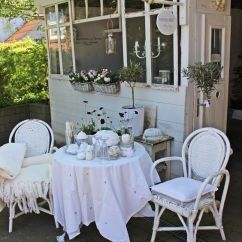 Grey Kitchen Chairs Carters Wooden High Chair 27 Shabby Chic Terrace And Patio Décor Ideas - Shelterness