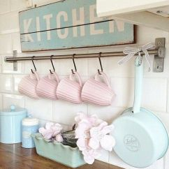 Turquoise Lounge Chair Executive 32 Sweet Shabby Chic Kitchen Decor Ideas To Try - Shelterness