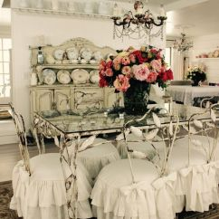 White Chair Covers Cheap Osaki Os 3d Pro Cyber Massage 26 Ways To Create A Shabby Chic Dining Room Or Area - Shelterness