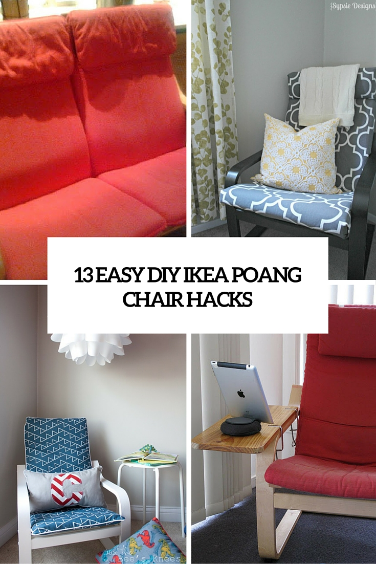 diy living room chair cover rugs for in home goods 13 easy and fast ikea poang hacks shelterness