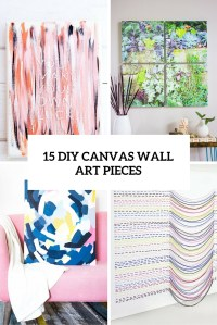 15 DIY Canvas Wall Art Pieces To Cheer Up Your Space ...