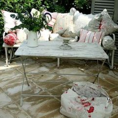 White Distressed Dining Chairs Small Apartment Table And 27 Shabby Chic Terrace Patio Décor Ideas - Shelterness