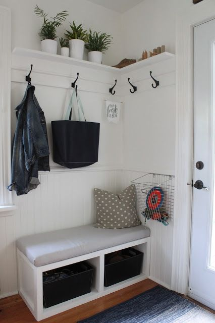 2x4 kitchen table storage shelves 32 small mudroom and entryway ideas - shelterness