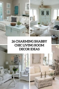26 Charming Shabby Chic Living Room Dcor Ideas