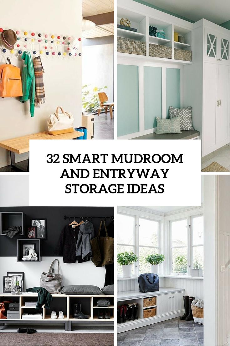 32 Small Mudroom And Entryway Storage Ideas