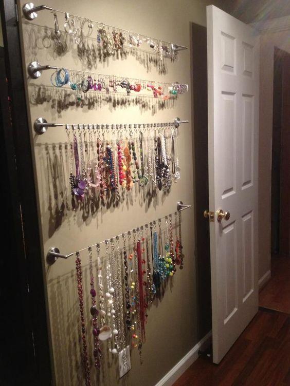 Necklace Wall Organizer Ideas