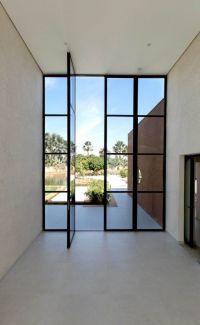 Oversized Doors & Staircase Design And Wood Slat Door ...