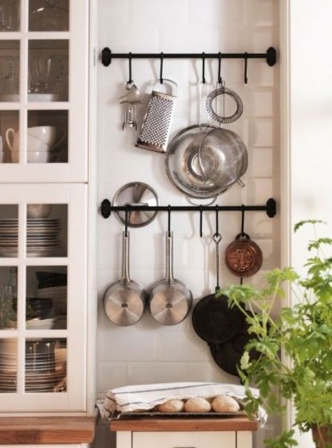 ikea metal kitchen shelves shoes for workers 27 smart wall storage ideas - shelterness
