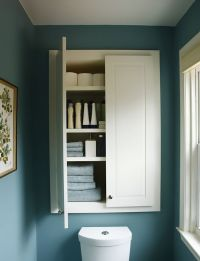 wall cabinet above toilet
