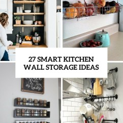 Pictures For Kitchen Wall Tables And Chairs Small Spaces 27 Smart Storage Ideas Shelterness Cover