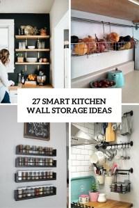 27 Smart Kitchen Wall Storage Ideas - Shelterness