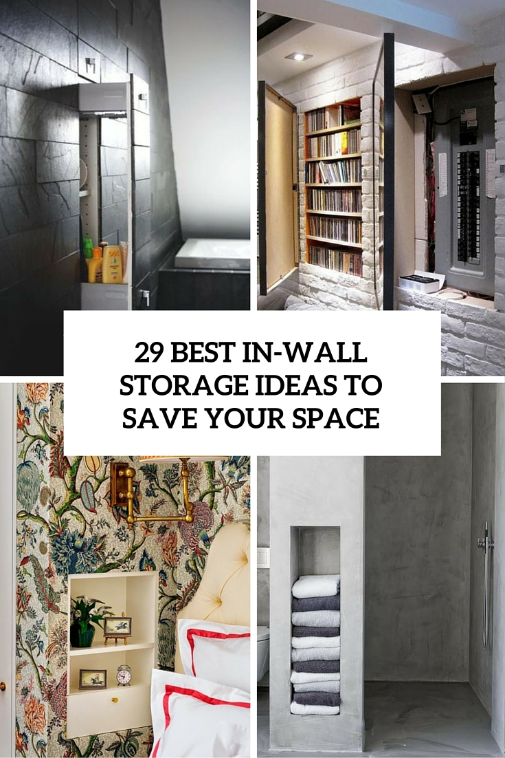medium resolution of best in wall storage ideas to save your space cover