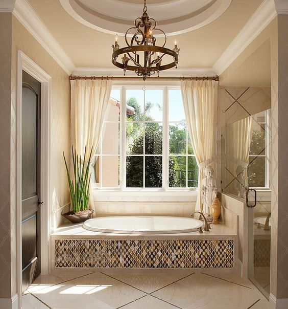 Beautiful Curtains Design 3 Bathroom Window Treatment Types And 23 Ideas - Shelterness