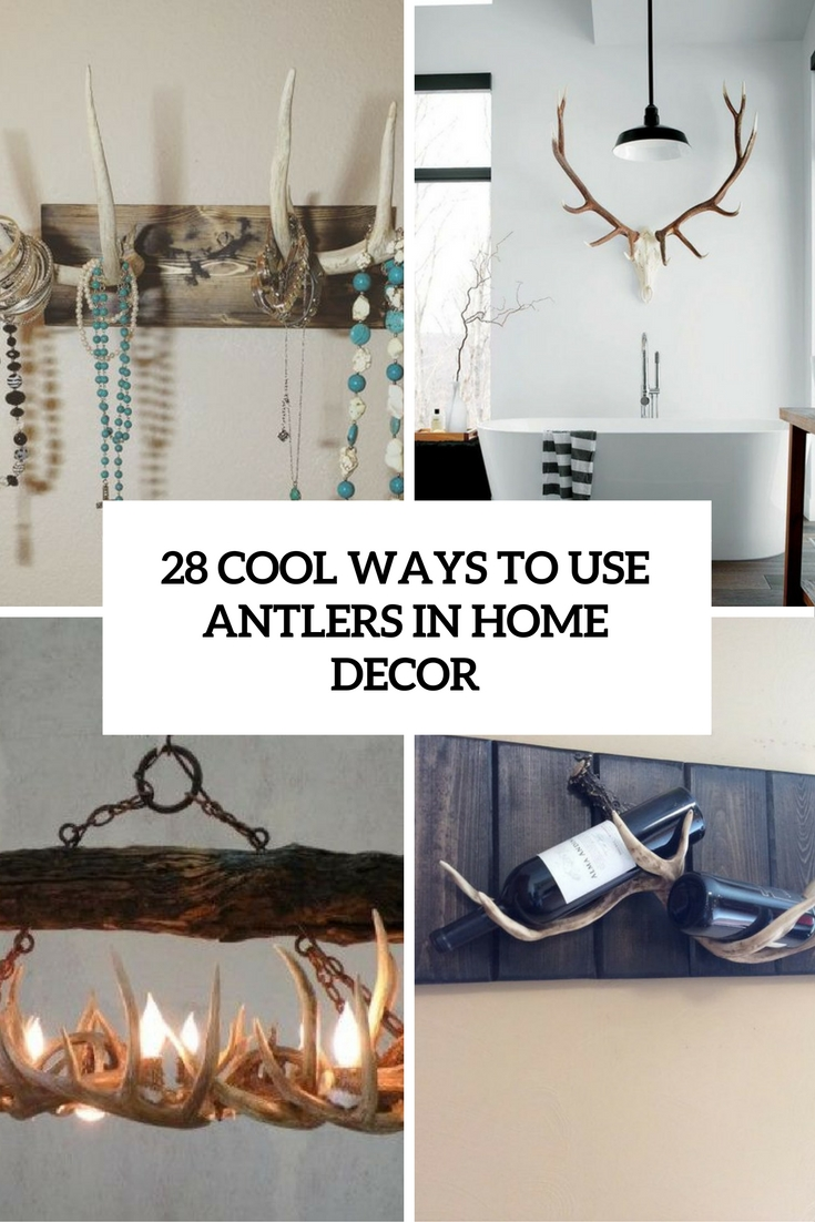28 Cool Ways To Use Antlers In Home Dcor  Shelterness