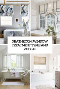 3 Bathroom Window Treatment Types and 23 Ideas