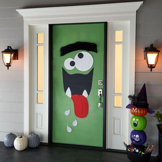25 Halloween Front Door Dcorations That Youll Love