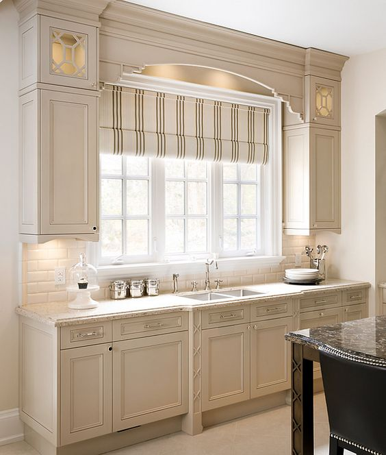 kitchen shades ninja 3 window treatment types and 23 ideas shelterness elegant striped make this more classic