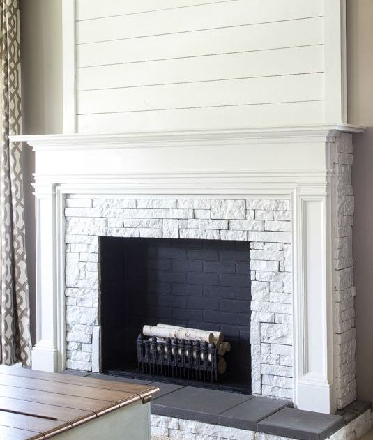 Brick Fireplaces 24 Cozy Faux Fireplace And Mantel Decor Ideas - Shelterness