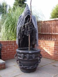 Picture Of creepy witch with a cauldron can be placed in ...