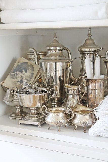 20 Exquisite Vintage Silver Dcor Ideas  Shelterness