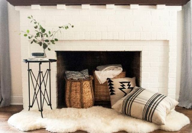 Inside Fireplace Decor 24 Cozy Faux Fireplace And Mantel Decor Ideas - Shelterness