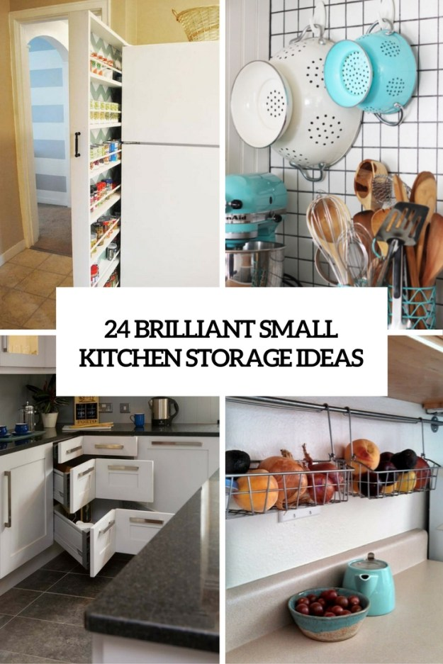 24 creative small kitchen storage ideas - shelterness