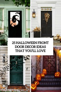25 Halloween Front Door Dcorations That Youll Love ...