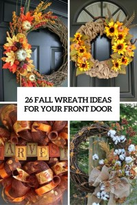 26 Fall Wreath Ideas For Your Front Door Dcor - Shelterness