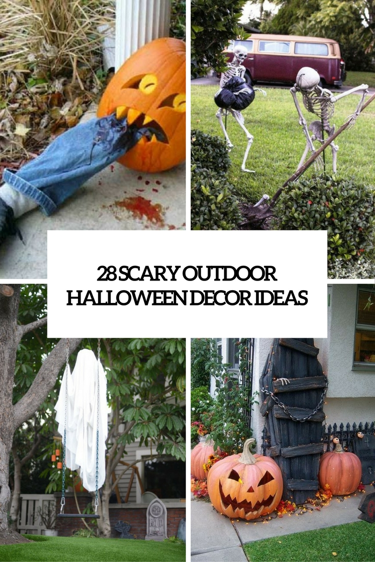 28 Scary Outdoor Halloween Dcor Ideas