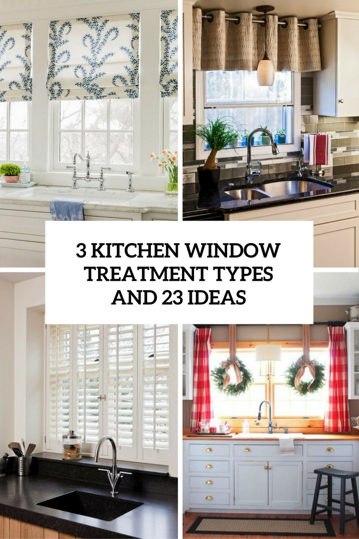 kitchen curtains ideas sink accessories 3 window treatment types and 23 shelterness cover
