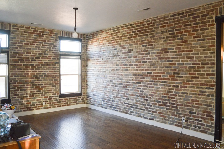 10 DIY Faux And Real Exposed Brick Walls  Shelterness
