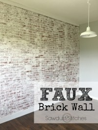 10 DIY Faux And Real Exposed Brick Walls