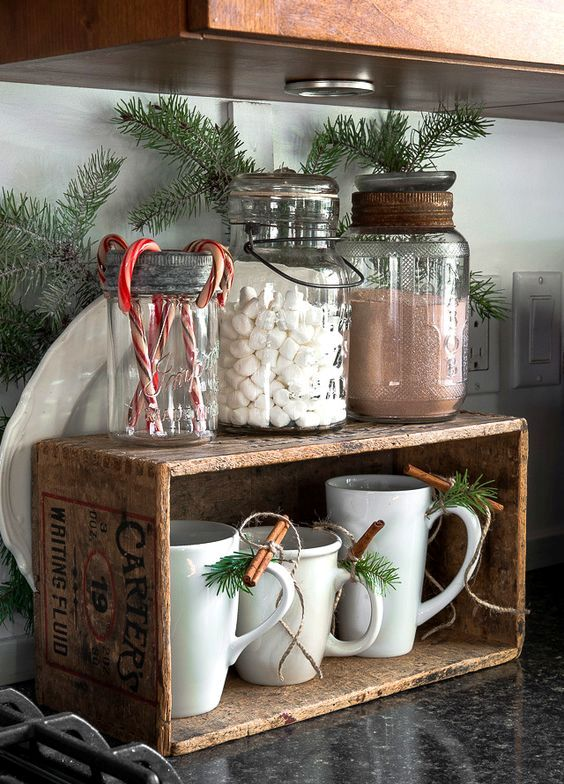 26 Cozy Christmas Kitchen Dcor Ideas  Shelterness