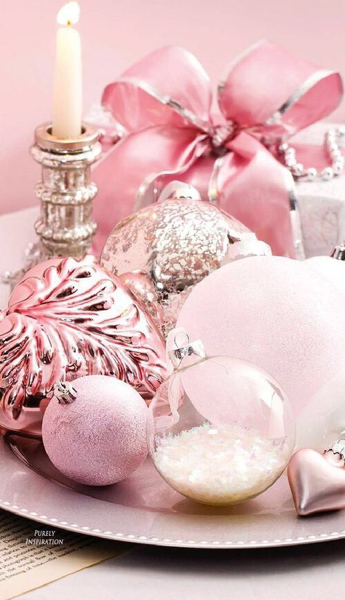 27 Glam Pink Christmas Dcor Ideas  Shelterness
