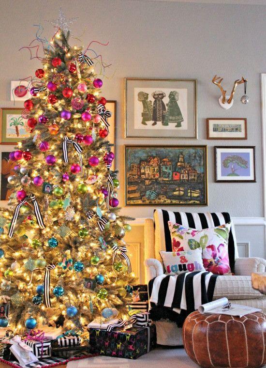 23 Colorful Christmas Tree Dcor Ideas  Shelterness