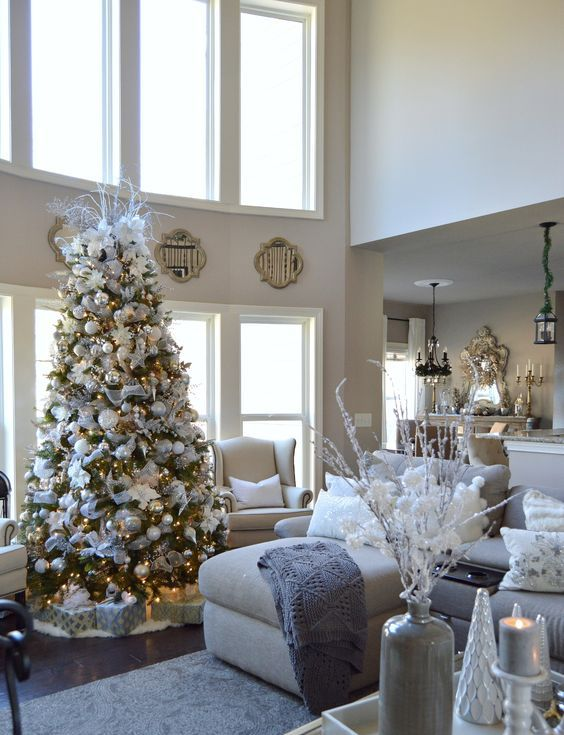 40 Cozy Christmas Living Room Dcor Ideas  Shelterness
