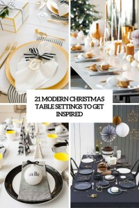 21 Modern Christmas Table Settings To Get Inspired ...