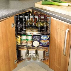 Kitchen Corner Cabinet Basket 20 Practical Storage Ideas Shelterness Spices And Home Bar Hidden In A