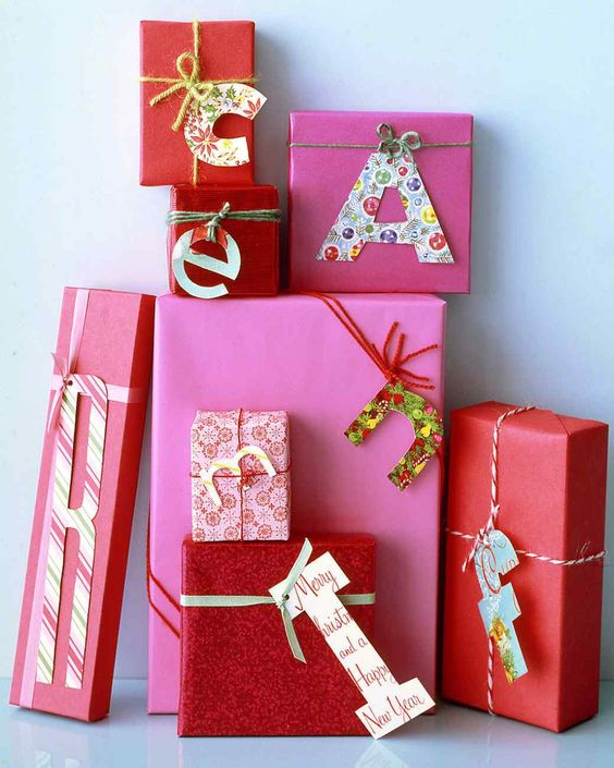 gift tags can be made of old Christmas cards