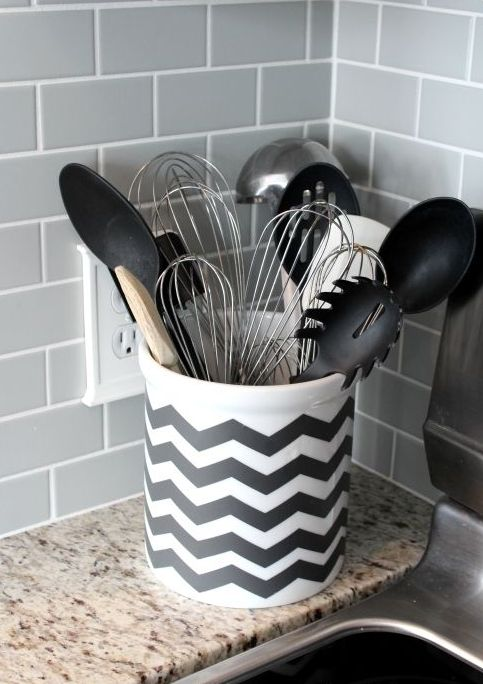 black wood chair unusual rocking 26 chevron home décor ideas that catch an eye - shelterness