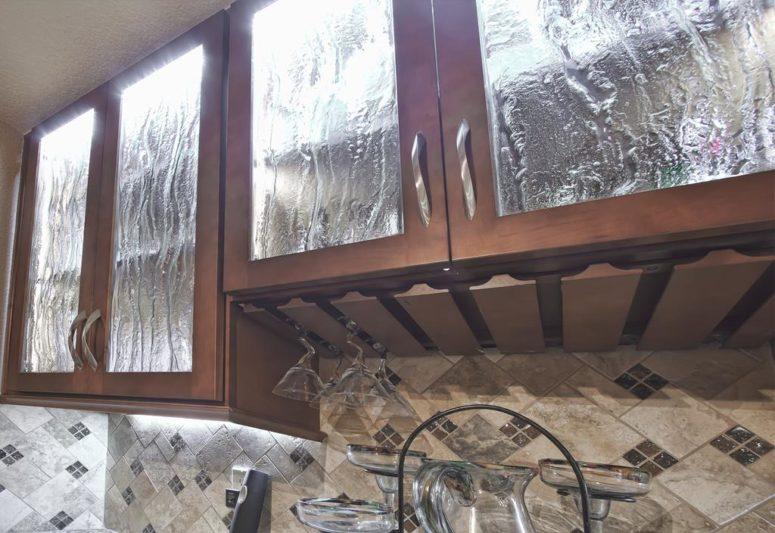 kitchen cabinet decor homemade cabinets 15 chic rain glass home décor ideas - shelterness