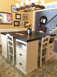 12 Awesome DIY Craft Tables With Free Plans - Shelterness