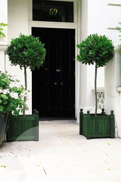 Tall Grey Planters
