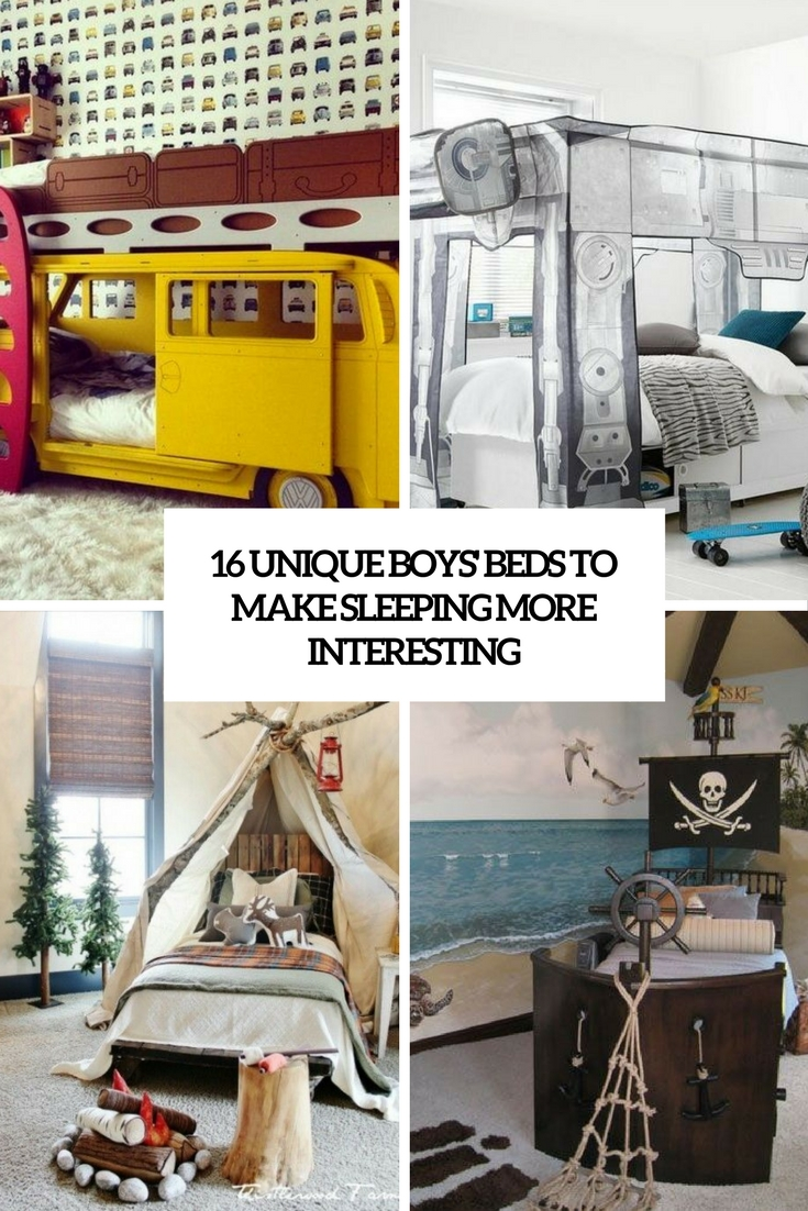 16 unique boys beds to make sleeping