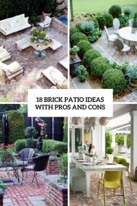 18 Brick Patio Ideas With Pros And Cons - Shelterness